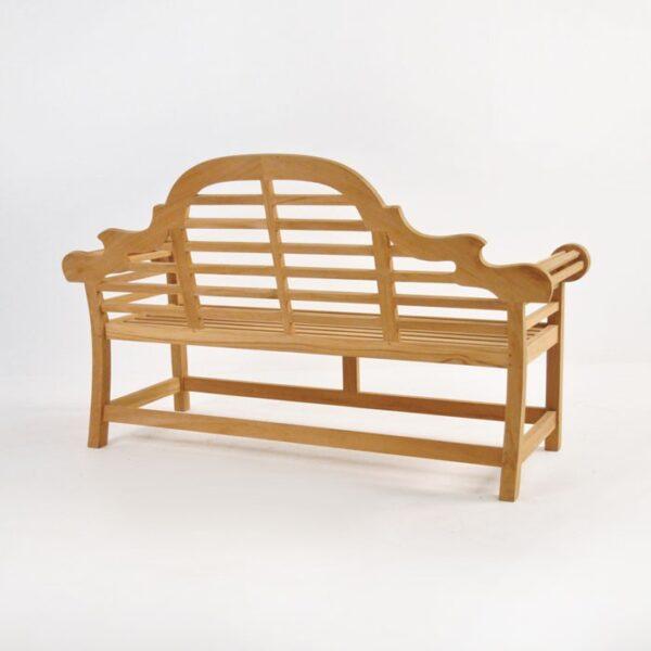 lutyens bench in teak 2 seat