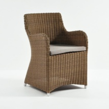 Moni Wicker Dining Chair (Sand)-0