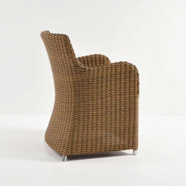 moni wicker dining chair sand back angle view