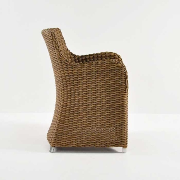 moni wicker dining chair sand side view