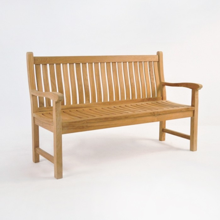 Wave Teak Outdoor Bench (2.5 Seat)-0