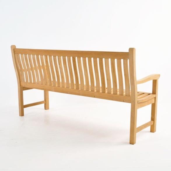 wave teak outdoor bench 3 seat