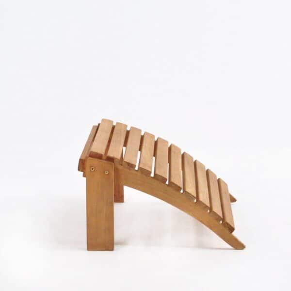adirondack foot stool side view