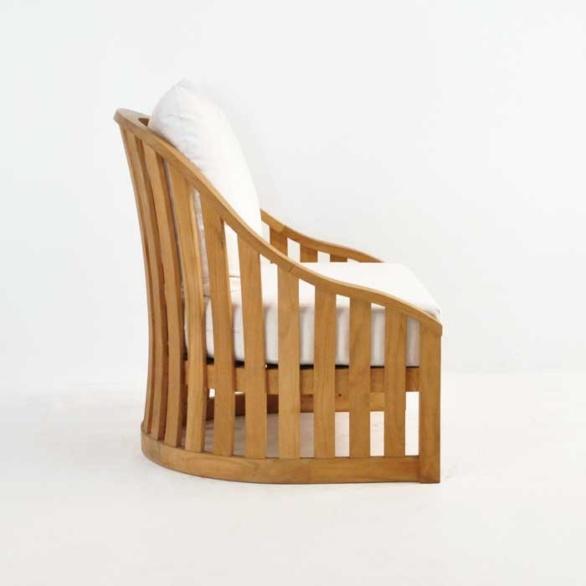 charter teak outdoor chair side view