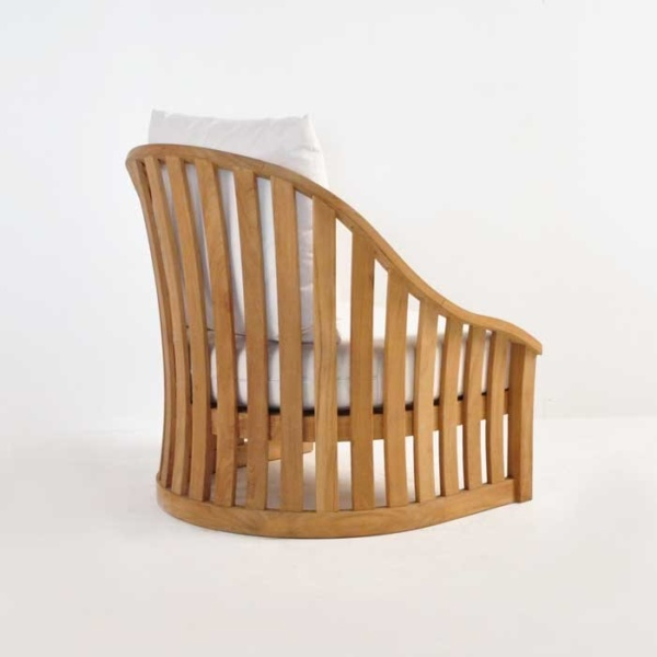 charter teak outdoor chair back angle view