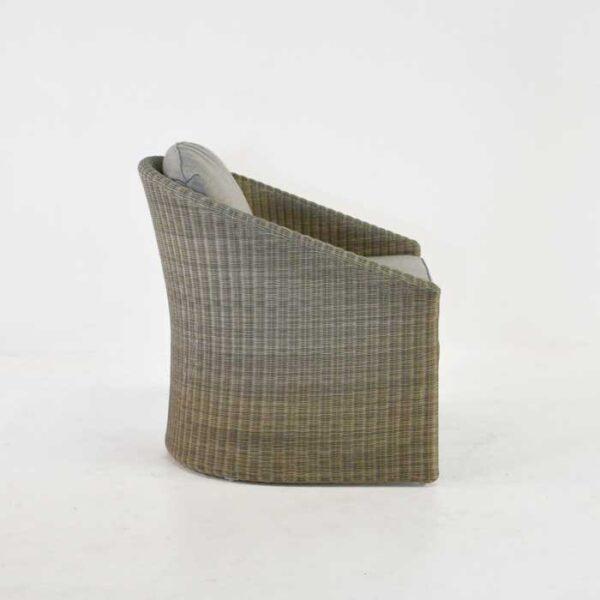 cove wicker tub chair side view