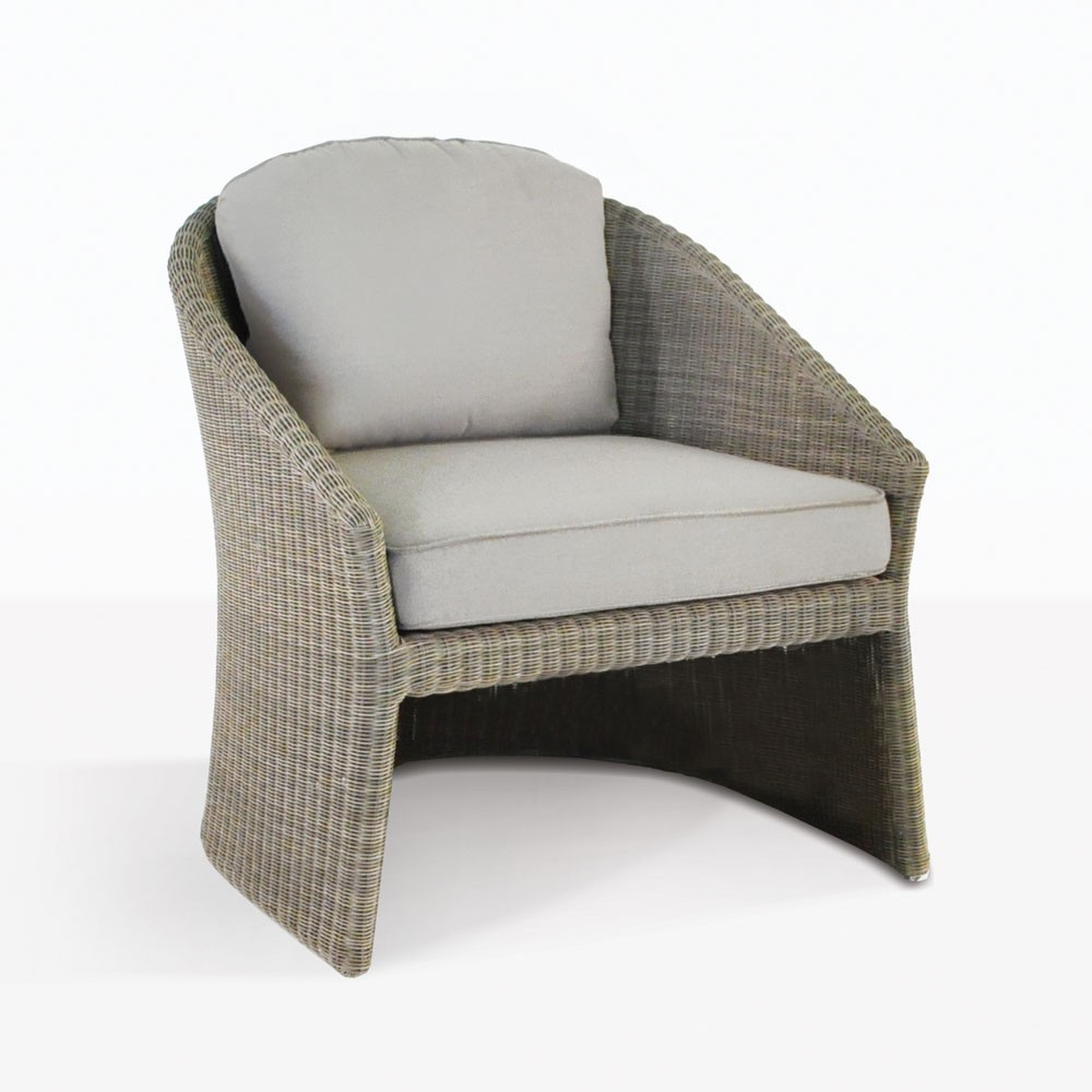 Cove Wicker Tub Chair Relaxing Outdoor Lounges Teak