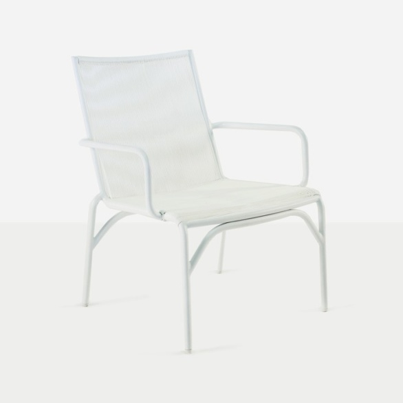 Leo Outdoor Relaxing Wicker Chair (White)-0