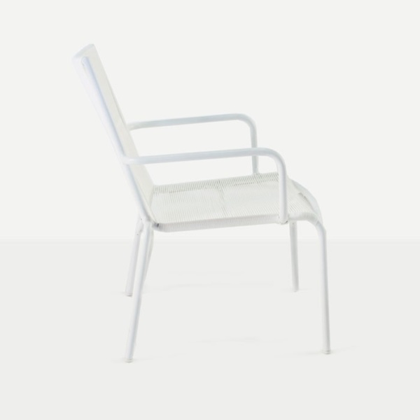Admirable Leo Outdoor Relaxing Wicker Chair White Ncnpc Chair Design For Home Ncnpcorg