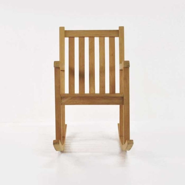 teak rocking chair front view