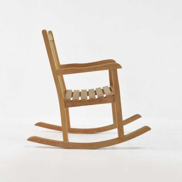 teak rocking chair side view