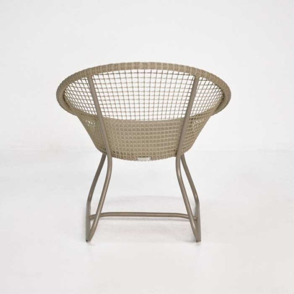 pietro outdoor wicker chair back view
