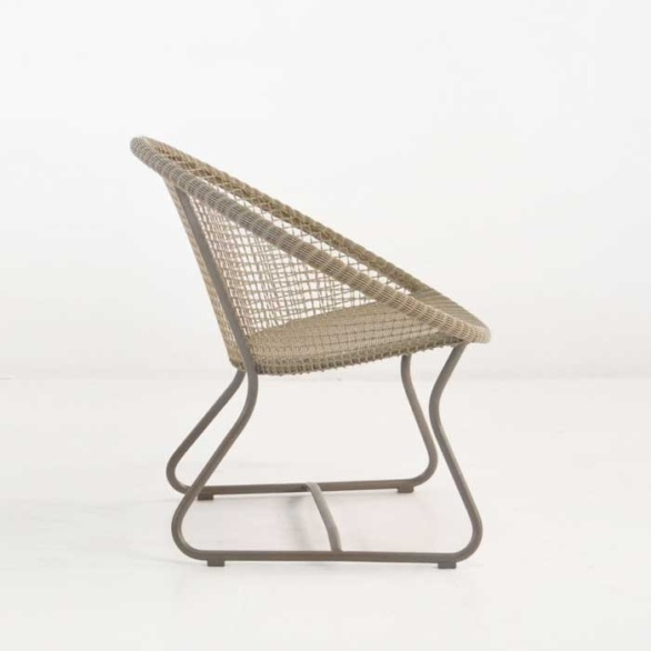pietro outdoor wicker chair side view