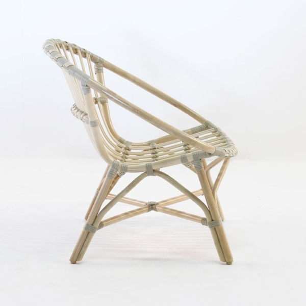 porch indoor arm chair rattan side view