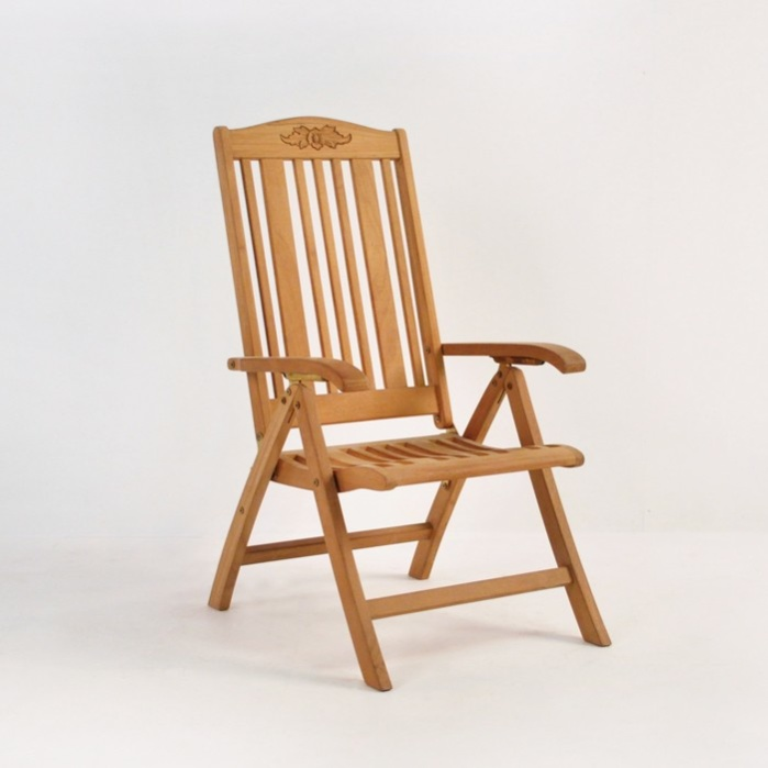 Regency Teak Relaxing Reclining Chair-0