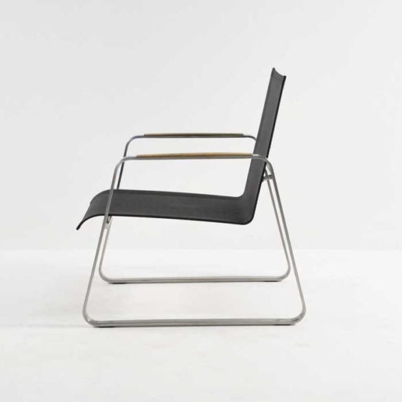 summer stainless steel relaxing chair black side view