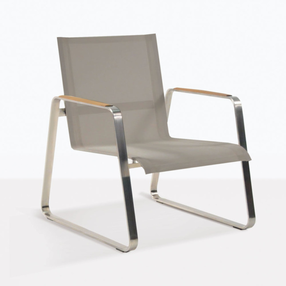 Summer Low Steel And Mesh Outdoor Chair