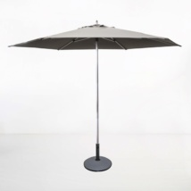 Tiki Round Patio Umbrella (Grey)-0