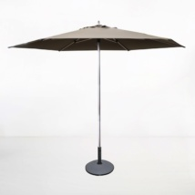 Tiki Round Patio Umbrella (Taupe)-0