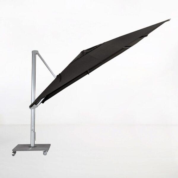 cantilever umbrella black angle view