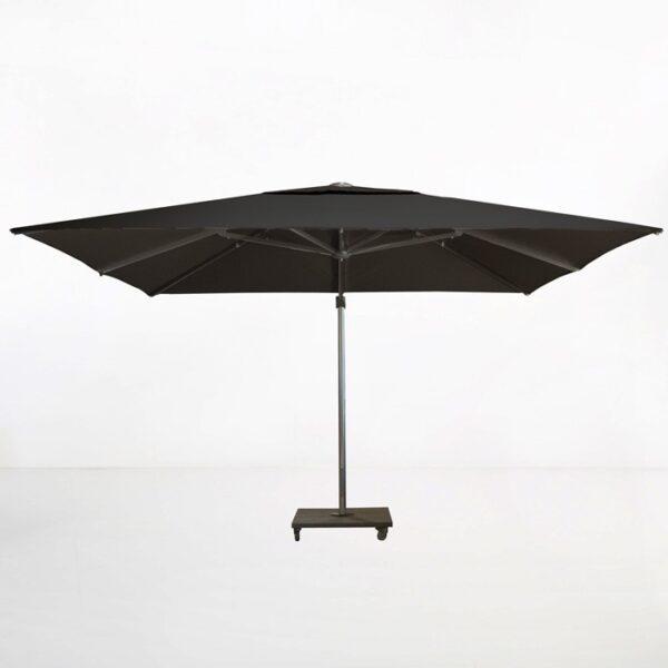 cantilever umbrella black side view