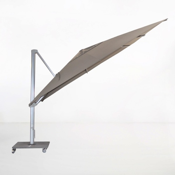kingston 13ft cantilever umbrella taupe angle view