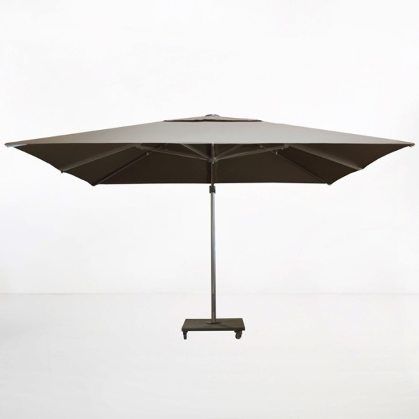 kingston 13ft cantilever umbrella taupe side view