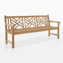 Elizabeth Teak Outdoor Bench For Three
