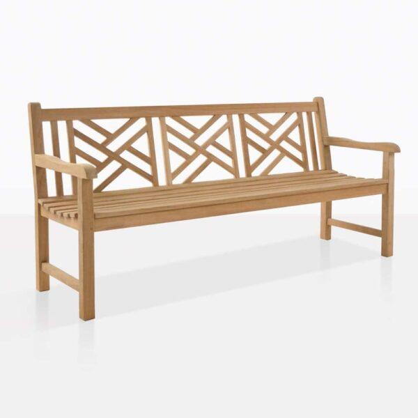 Elizabeth Teak Outdoor Bench For Three