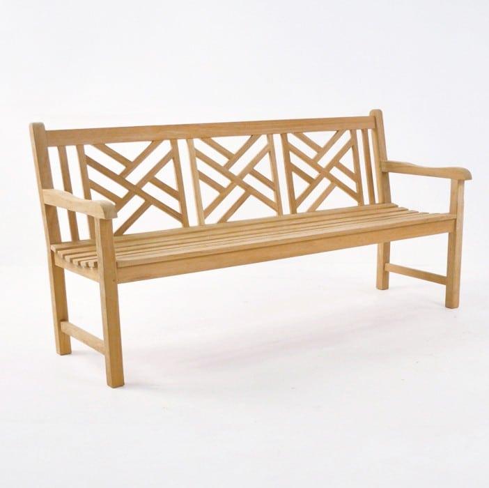 elizabeth teak garden bench 3 seat benches teak warehouse. Black Bedroom Furniture Sets. Home Design Ideas