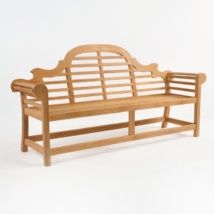 Lutyens Outdoor Bench in Teak (3 Seat)-0