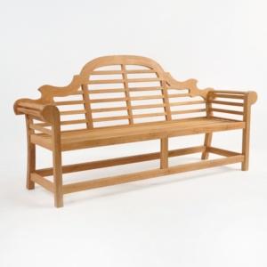 lutyens bench in teak 3 seat