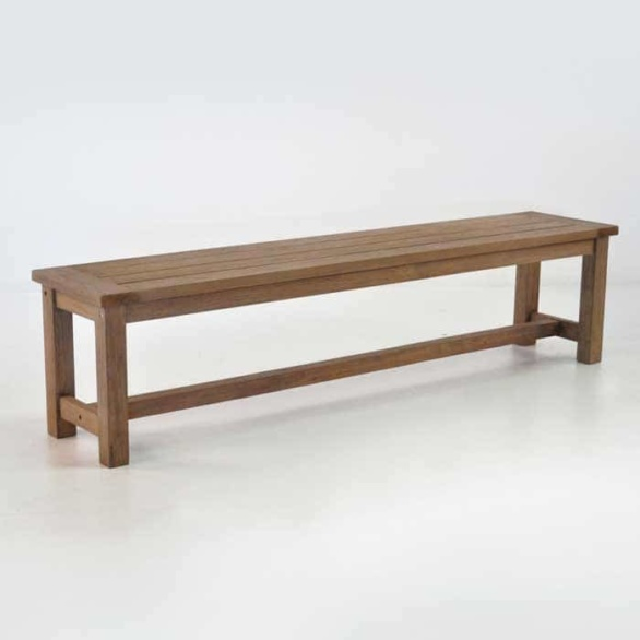 Rustic 4 Legged Reclaimed Outdoor Teak Benches-0