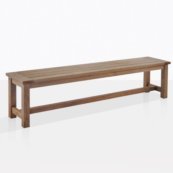 Rustic Teak Backless Dining Bench