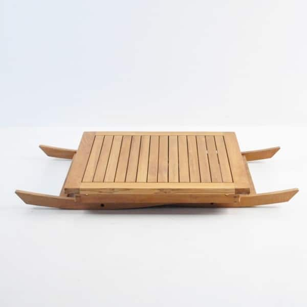 square teak folding table 31in