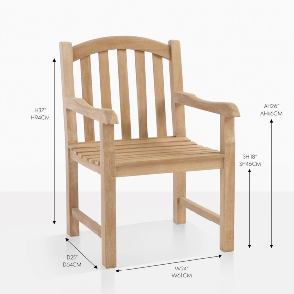 bowback teak dining chair