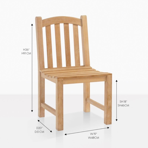 bowback side dining chair