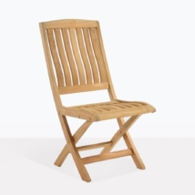 Como Teak Simple Folding Dining Chair