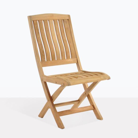 Como Teak Simple Folding Dining Chair