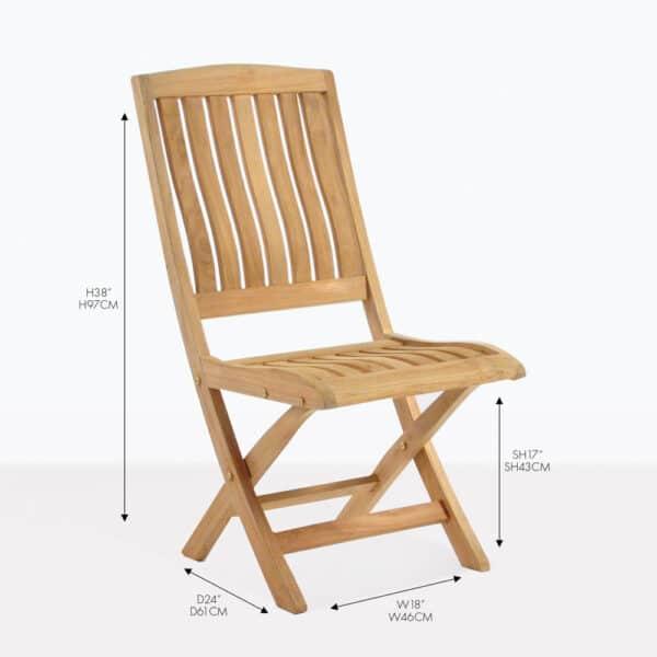 como teak folding dining chair