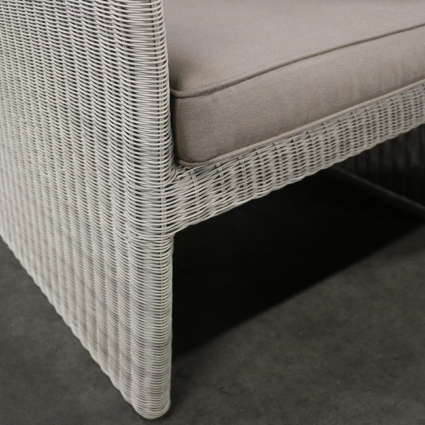 cube wicker deep seating collection closeup