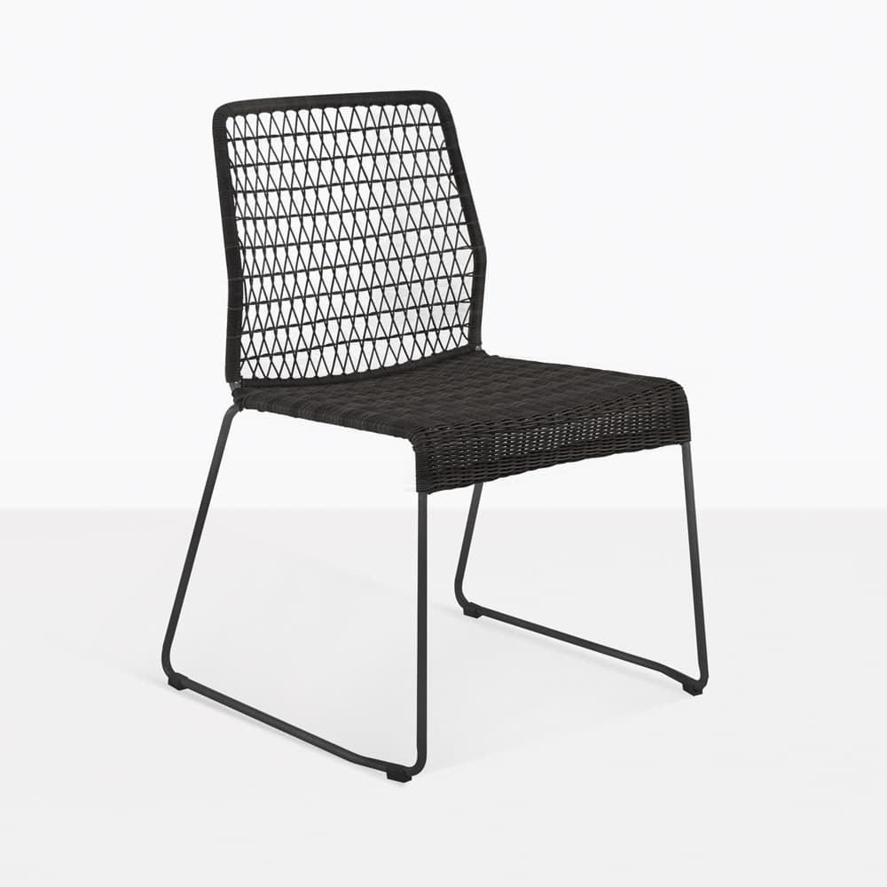 Edge Black Wicker Dining Side Chair