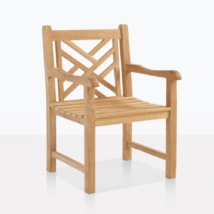 Elizabeth Teak Dining Arm Chair