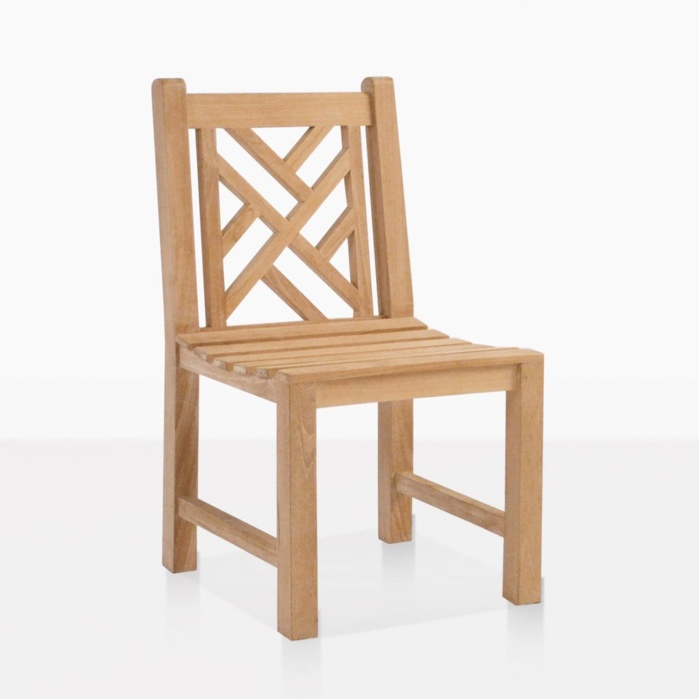 Elizabeth teak outdoor dining side chair