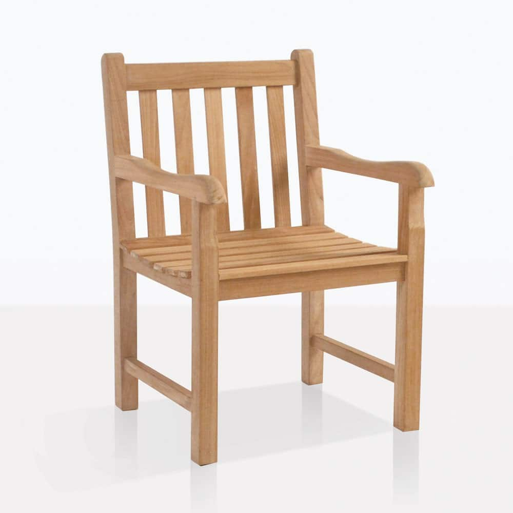 Garden Arm Chair (Teak) | Outdoor Restaurant Patio Seating ...