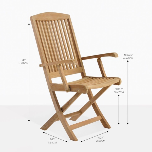 halimah teak folding arm chair