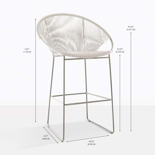 pietro bar stool white