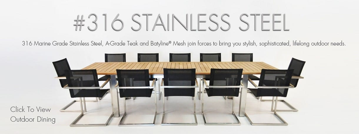 316 Marine Grade Stainless Steel Outdoor Dining Furniture