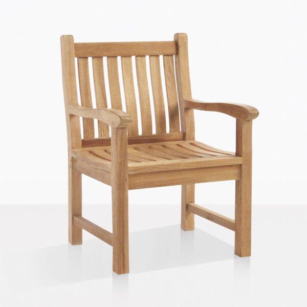 Wave Teak Dining Arm Chair