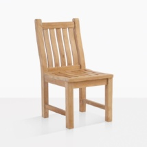 Wave Teak Dining Side Chair